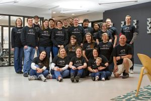 Showing off our shirts and supporting fellow Modean, Gary Lowery's son Kam to celebrate Down Syndrome Awareness