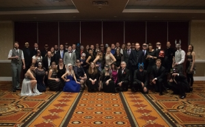 Modeans at the 2014 company holiday party, themed Masquerade