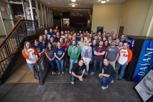 Company photo before heading out to Steppin' Out 2014