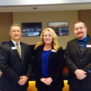 Pictured above (L to R): Todd Murray, Area Executive; Tammy Baldwin-Boboli, Assistant Branch Manager; Wade Shearer, Teller CSR